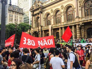 Manifestação contra o aumento da tarifa do transporte público