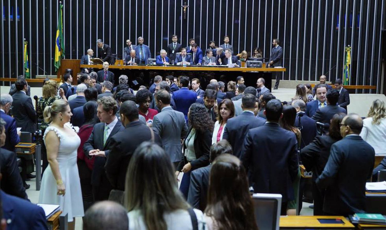 Sessão da votação dos destaques da reforma da Previdência na Câmara.