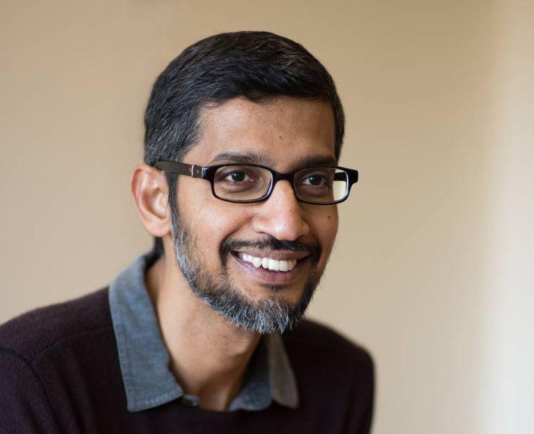 Sundar Pichai, executivo-chefe do Google, durante a entrevista na sede da empresa, em Mountain View (Califórnia).