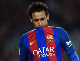 Neymar está suspenso por três jogos no Espanhol.