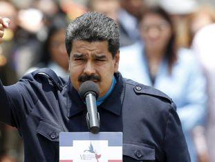 Nicolás Maduro na sua chegada à Cúpula do Panamá.