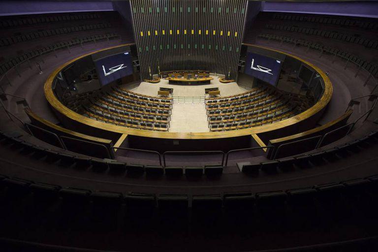 Plenário da Câmara dos Deputados na última segundas.
