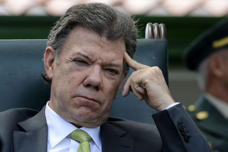 O presidente colombiano Juan Manuel Santos na semana passada.