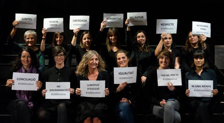 Trabalhadoras do EL PAÍS na redação de Barcelona.