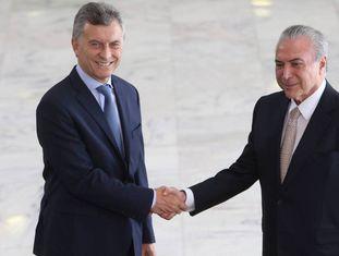 Os presidentes de Argentina e Brasil em um encontro recente.