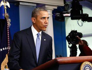 Barack Obama durante o anúncio da imposição de multas à Rússia.
