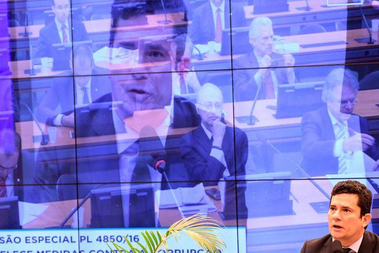 O juiz Sergio Moro durante audiência na Câmara.