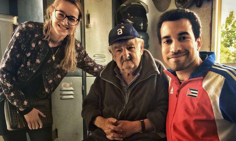 O registro do encontro com Mujica em sua chácara.
