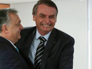 Bolsonaro e o ultradireitista húngaro Viktor Orban.
