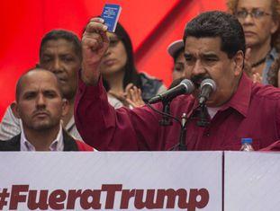 Nicolás Maduro nesta segunda-feira em Caracas.