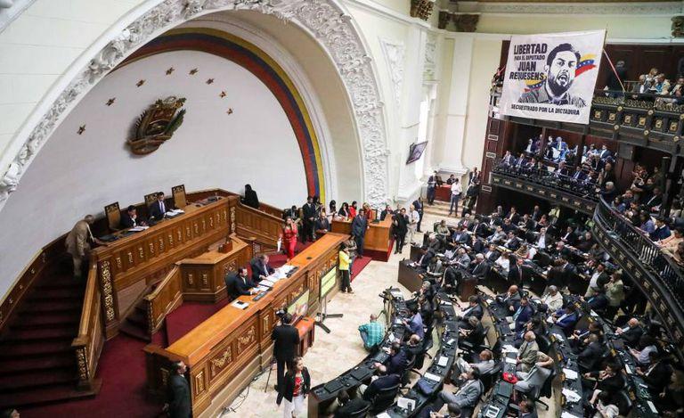 A Assembleia Nacional nesta terça-feira, em Caracas.