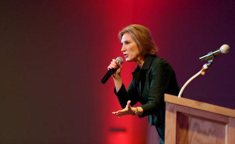 Carly Fiorina em um evento no último 3 de outubro.