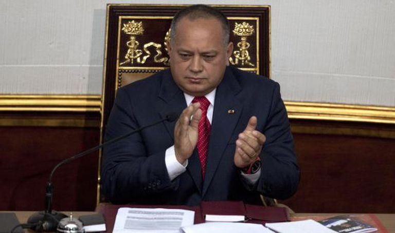 O presidente da Assembleia Nacional de Venezuela, Diosdado Cabelo.