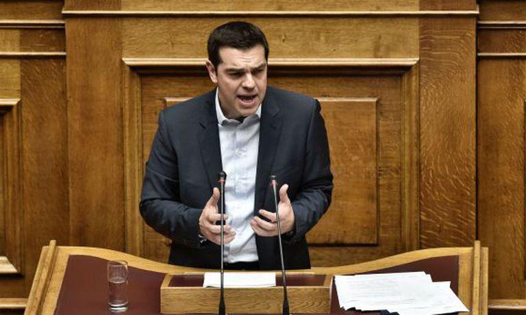 Tsipras, durante a apresentação das medidas.
