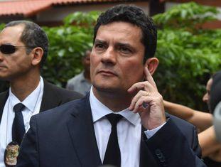 O juiz Sergio Moro após reunião com Bolsonaro nesta quinta.