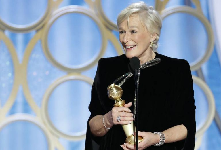 Glenn Close durante seu discurso.