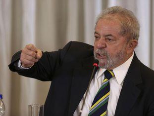 O ex-presidente Lula durante coletiva de imprensa