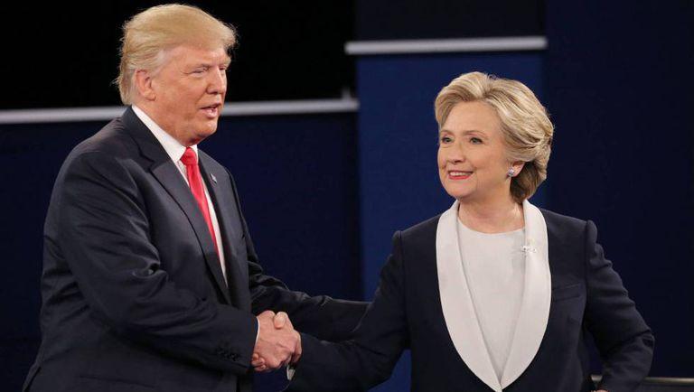 Trump e Clinton no debate anterior