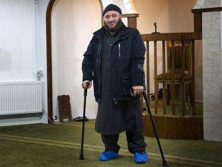 O imã Osama el Saadi, no centro de reabilitação de jihadistas de Aarhus, Dinamarca.