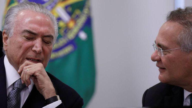 Temer e Renan nesta terça-feira, em Brasília.
