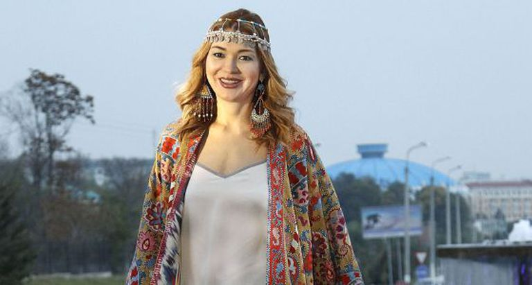 Gulnara Karimova em cerimônia em outubro último.