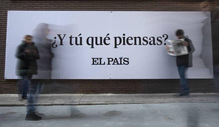 Outdoor da campanha do EL PAÍS na Espanha: '¿Y tú qué piensas?'