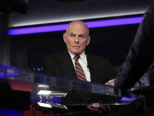 O chefe de gabinete da Casa Branca, John Kelly, na entrevista ao canal Fox