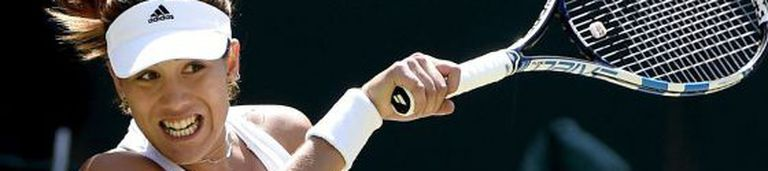 Muguruza, em uma partida em Wimbledon.