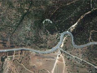 Uma imagem retirada do Google Earth mostra a localização do monumento.