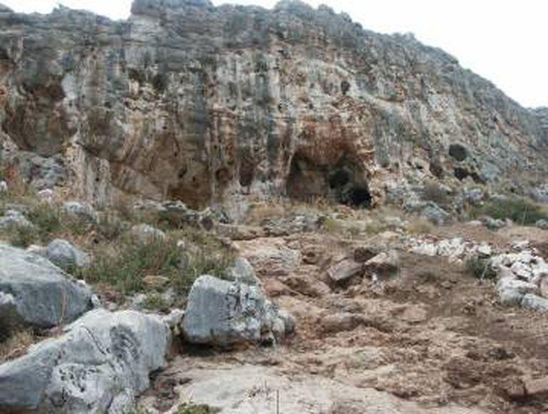 A gruta de Misliya, no bíblico Monte Carmelo, em Israel.