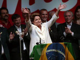 A presidenta Dilma Rousseff após a vitória.