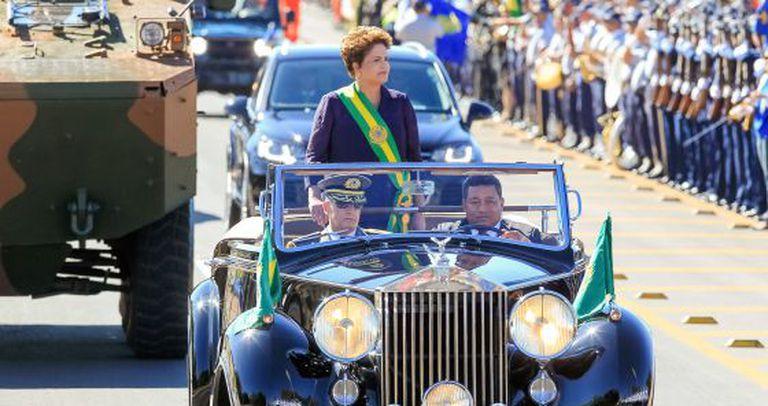 Dilma no 7 de Setembro de 2014.