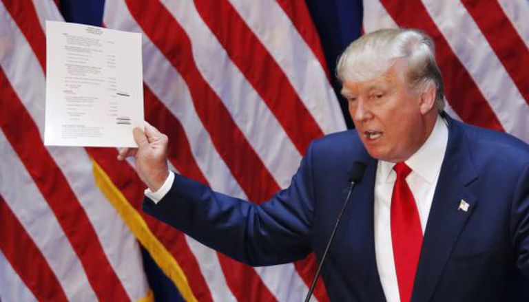Donald Trump se apresenta como candidato republicano.