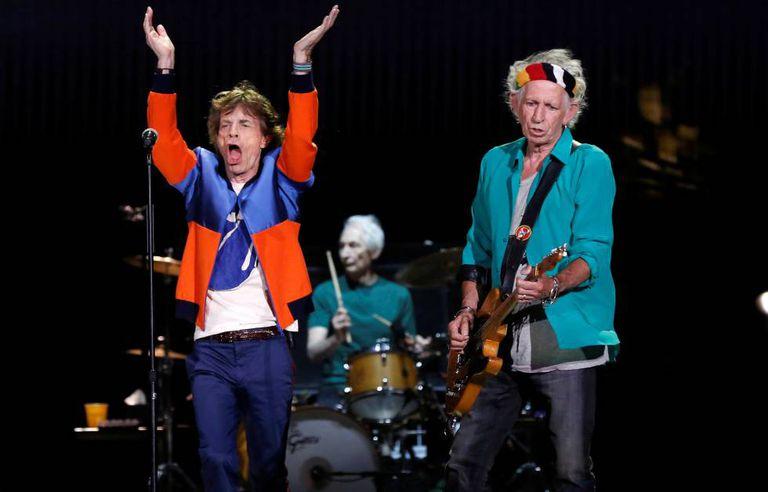 Os Rolling Stones durante apresentação no festival Desert Trip em outubro de 2016.