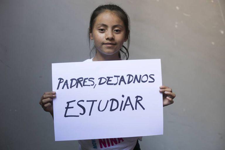 Naydelin, 13 anos, da Guatemala