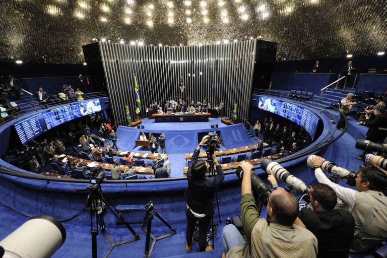 O plenário do Senado, em agosto.