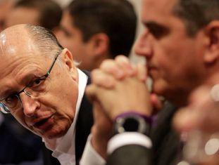 Geraldo Alckmin durante anúncio de apoio do centrão.