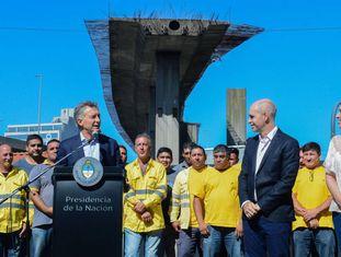 O presidente Mauricio Macri anuncia obras na cidade de Buenos Aires com o prefeito Horacio Rodríguez Larreta e a governadora María Eugenia Vidal.