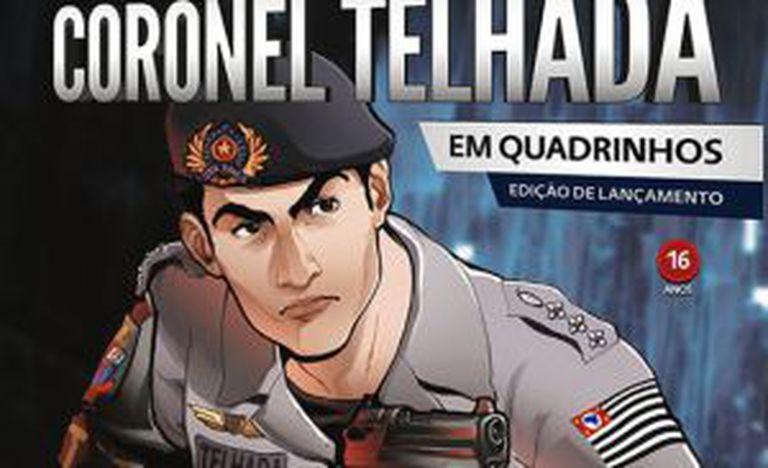 Reprodução da revista em quadrinhos do coronel Telhada.