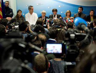 Carles Puigdemont com ex-conselheiros