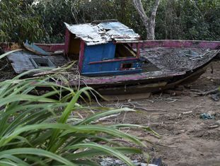 Depois da chegada da onda de rejeitos proveniente do rompimento de Fundão, a pesca no mar de Regência foi proibida.