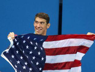 Phelps fez história no Rio.