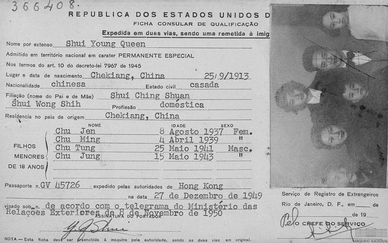 O Arquivo Nacional é rico em documentos migratórios.