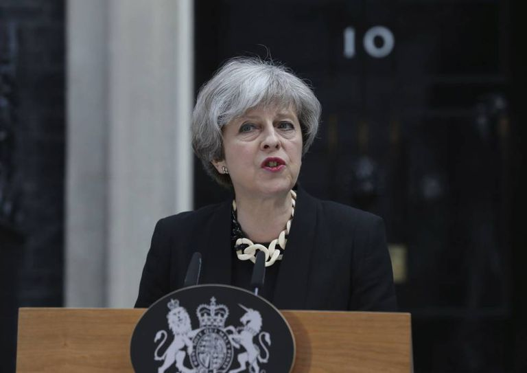 A primeira-ministra britânica, Theresa May
