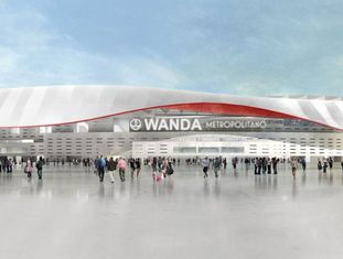 Imagem virtual do Wanda Metropolitano, o novo estádio do Atlético de Madrid.