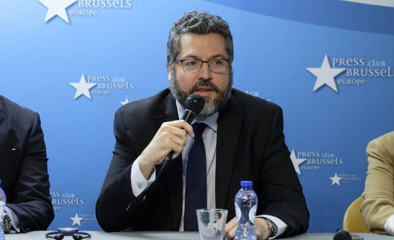 O chanceler brasileiro, Ernesto Araújo.