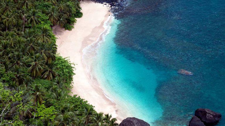 Banana Beach, em São Tomé e Príncipe.