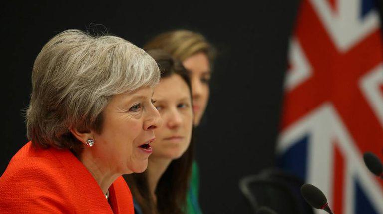 A primeira-ministra britânica, Theresa May, no dia 1º de dezembro