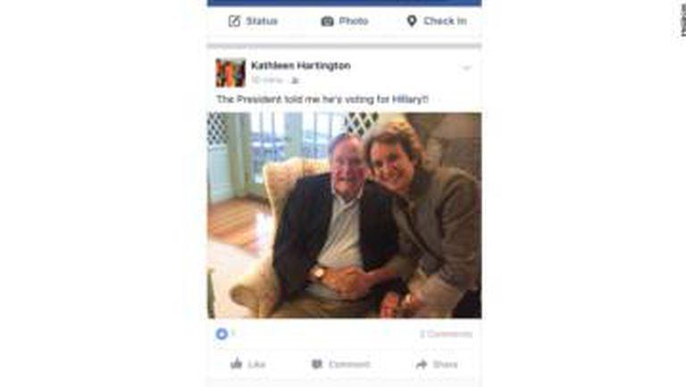 Captura da imagem de Townsend em Facebok publicada por CNN.