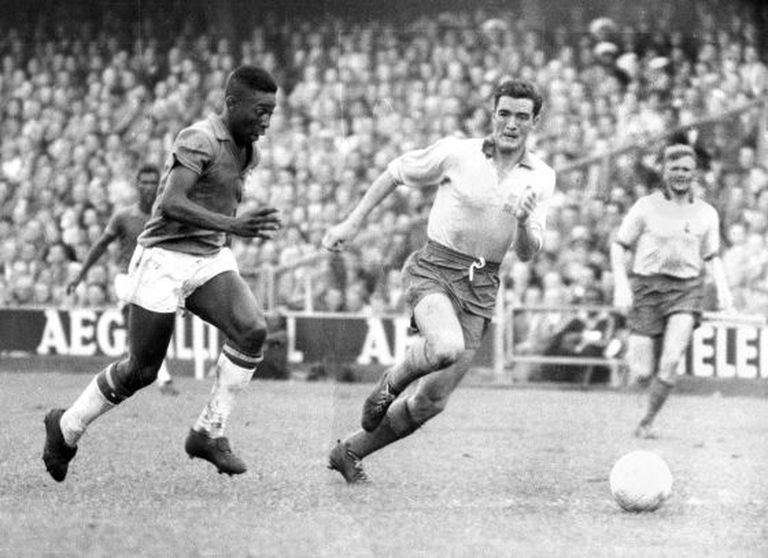 Pelé, durante a final da Copa 1958 contra a Suécia.